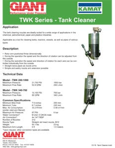 TWK Series - Tank Cleaner