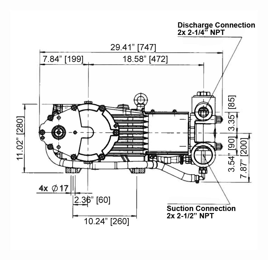 Gp7645gb 180 Giant Pumps Dim Engine Diagram Specifications